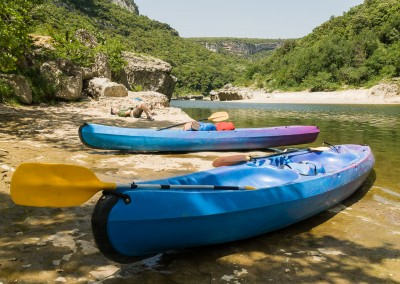 Canoeing in the Ardeche, France