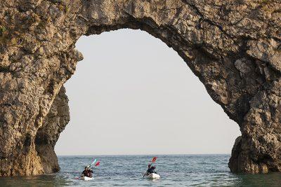 Kayaking at Durdledoor